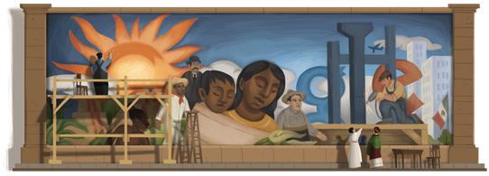 125ème anniversaire de Diego Rivera.