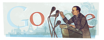 Google Logo: André Malraux's 110th birthday - French author and statesman