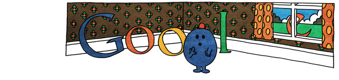 Google Logo: 76th Birthday of Roger Hargreaves - Mr. Men and Little Miss creator - Mr. Forgetful