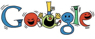 Google Logo: 76th Birthday of Roger Hargreaves - Mr. Men and Little Miss creator - Mr. Funny