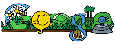 Google Logo: 76th Birthday of Roger Hargreaves - Mr. Men and Little Miss creator - Mr. Bounce
