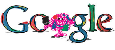 Google Logo: 76th Birthday of Roger Hargreaves - Mr. Men and Little Miss creator - Mr. Messy