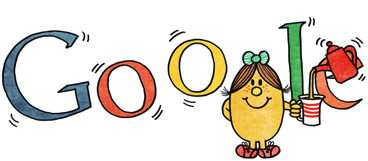 Google Logo: 76th Birthday of Roger Hargreaves - Mr. Men and Little Miss creator -Little Miss Magic