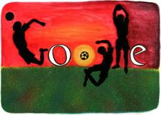 Google Logo: Doodle 4 Google 'I Love Football' National Winner - France