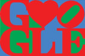 Le logo Google de la Saint Valentin