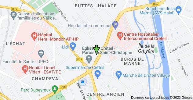 13 Avenue de Verdun, 94000 Créteil: carte