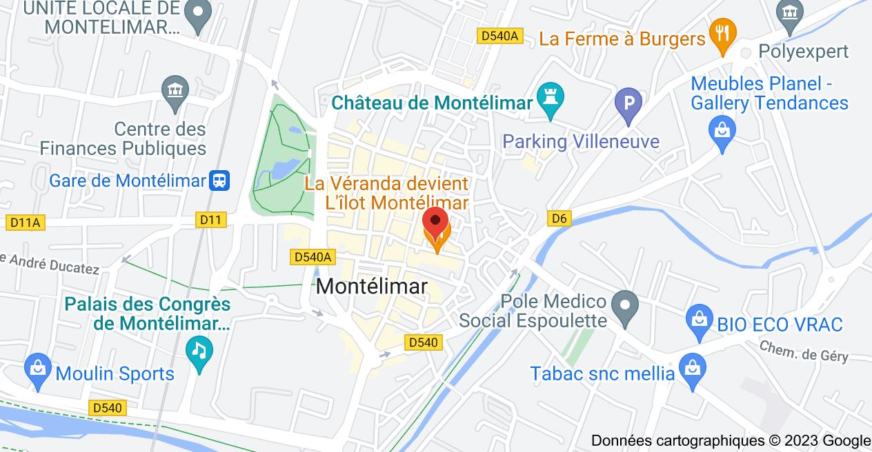 9 Rue Roger Poyol, 26200 Montélimar: carte