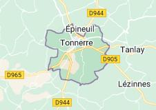 Tonnerre France: carte