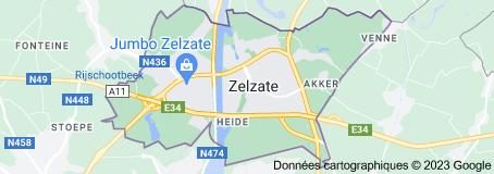 Zelzate Belgique: carte