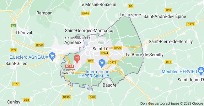 Saint-Lô: carte