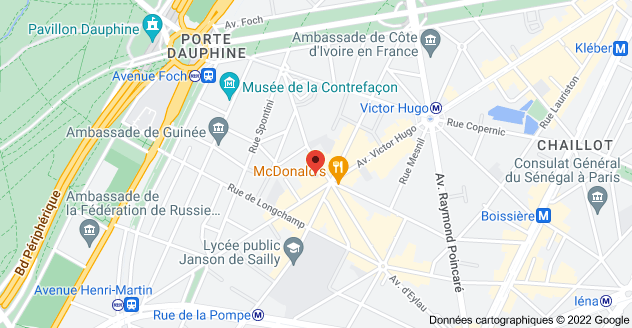124 Avenue Victor Hugo, 75116 Paris : carte