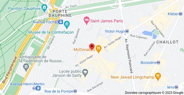 124 Avenue Victor Hugo, 75116 Paris : carte