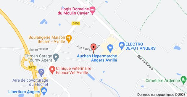25 Rue Paul Langevin, 49240 Avrillé: carte