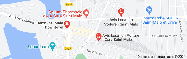 location voitures saint malo : carte