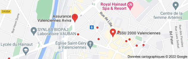 assurance auto valenciennes: carte