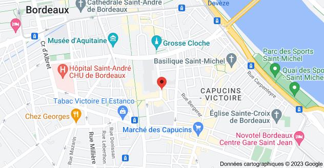 52 Rue du Mirail, 33000 Bordeaux: carte