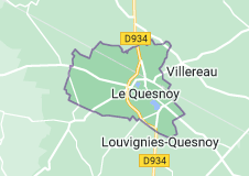 Le Quesnoy France: carte