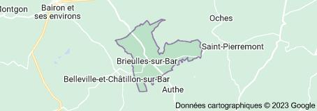 Brieulles-sur-Bar France: carte