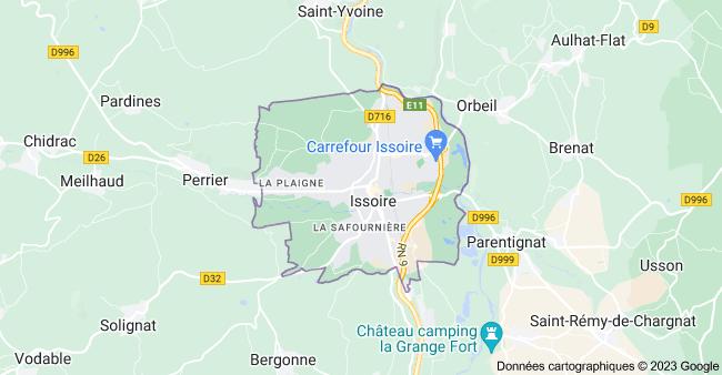 63500 Issoire: carte