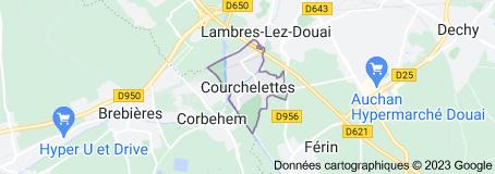 Courchelettes France: carte
