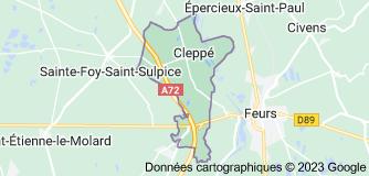 Cleppé: carte