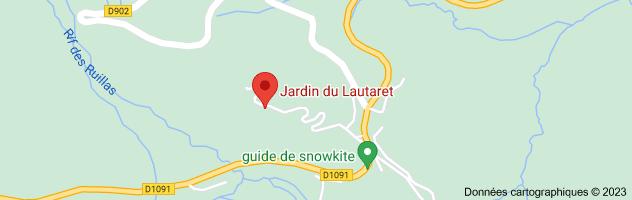 le jardin alpin col du lautaret: carte