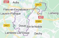 Douai France: carte