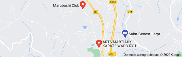 karate saint genest lerpt : carte