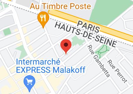 Map of Maison de la vie associative de Malakoff