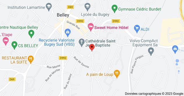 37 Rue Sainte-Marie, 01300 Belley: carte