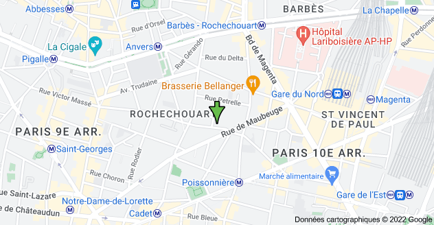 14 Rue Condorcet, 75009 Paris : carte