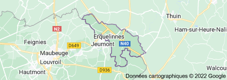 Erquelinnes Belgique: carte