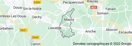 Masny France : carte