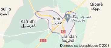 Afrin Syrie: carte