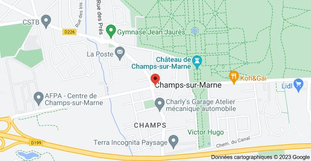 2 Rue de Paris, 77420 Champs-sur-Marne: carte