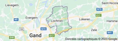 Lochristi Belgique: carte