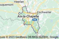 Aix-la-Chapelle Allemagne: carte