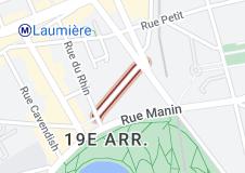 Rue Meynadier: carte