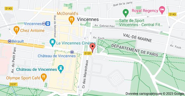 2 Villa d'Idalie, 94300 Vincennes: carte