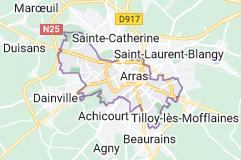 Arras France: carte