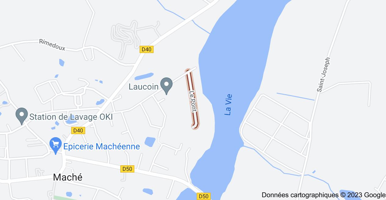 Le Pont, 85190 Maché: carte