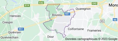Boussu Belgique: carte