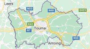 Tournai Belgique: carte