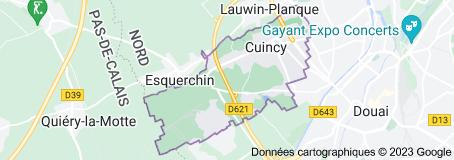 Cuincy France: carte