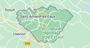 Saint-Amand-les-Eaux France : carte