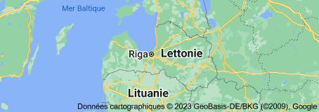 Lettonie: carte