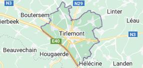 Tirlemont Belgique: carte