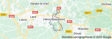 Hénin-Beaumont France : carte