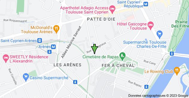 60 Rue de Cugnaux, 31300 Toulouse: carte