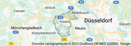 Kaarst Allemagne: carte